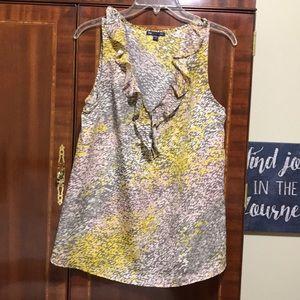 Gap grey, yellow, pink and cream dress top